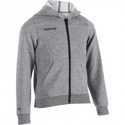 Veste capuche basketball enfant B300 gris