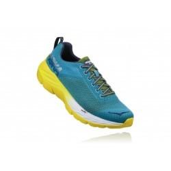 Chaussures de Running Hoka One One Mach Bleu / Jaune