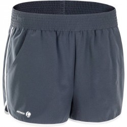 SHORT FEMME SOFT GRIS TENNIS BADMINTON TENNIS DE TABLE PADEL SQUASH