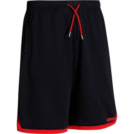 Short basketball adulte Reversible navy rouge