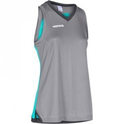 TANK Basketball femme B500 gris turquoise