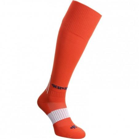 Chaussettes hautes de football adulte F500 rouges