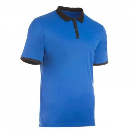 POLO HOMME SOFT BLEU 500 TENNIS BADMINTON TENNIS DE TABLE PADEL SQUASH ARTENGO