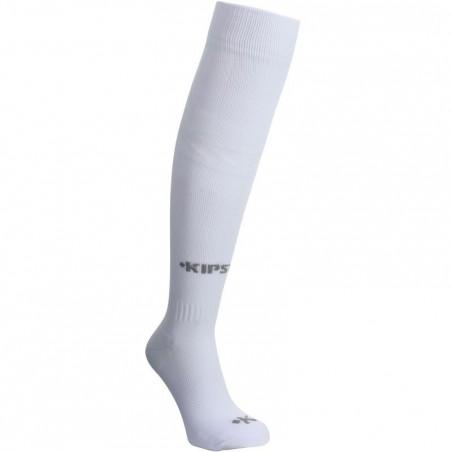 Chaussettes hautes football enfant F 100 blanc