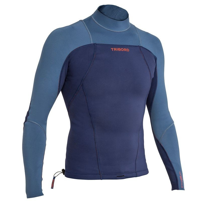 top neoprene surf 900 Manches Longues homme bleu
