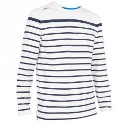 T-Shirt manches longues bateau 100 homme blanc