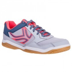 CHAUSSURES DE BADMINTON ARTENGO BS710 LADY GREY