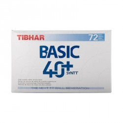 BALLE DE TENNIS DE TABLE TIBHAR BASIC*72 PLASTIQUE BLANCHE