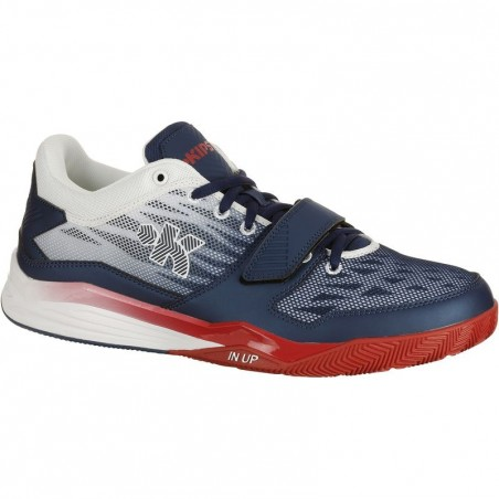 Chaussure basketball adulte Fast 500 bleu blanc rouge