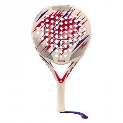 RAQUETTE DE PADEL ADULTE PR830 POWER BLANC ROSE