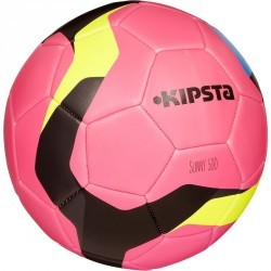 Ballon football Sunny 500 taille 5 rose gris