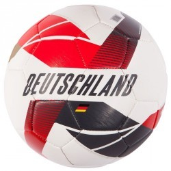 Ballon football Allemagne taille 5 blanc noir rouge