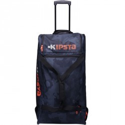 Sac de sports collectifs à roulettes Hardcase 105 litres noir orange