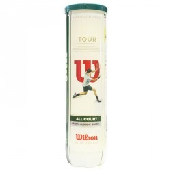 BALLES DE TENNIS TOUR LOT DE 4 JAUNE