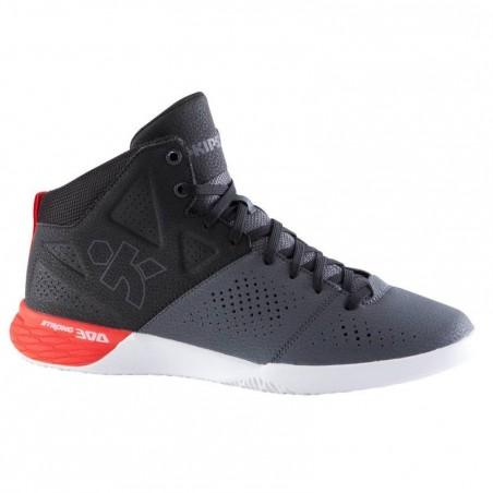 Chaussure basketball adulte Strong 300 II noir gris