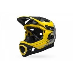 Casque avec Mentonnière Amovible Bell Super DH Mips Jaune Noir Mat