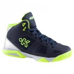 Chaussures de Basketball enfant Strong 300 navy jaune
