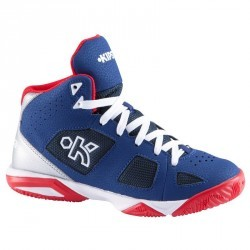 Chaussure basketball enfant Strong 300 navy rouge