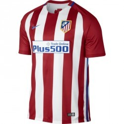 Maillot football adulte réplique Atletico rouge blanc