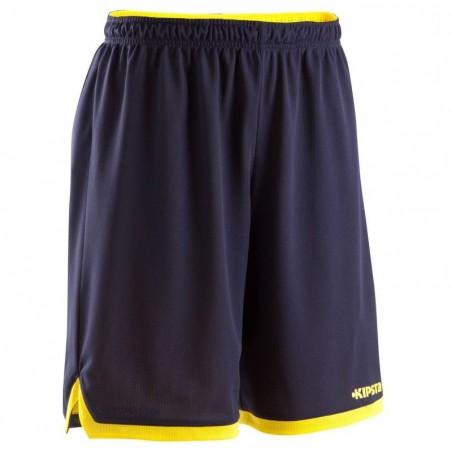 Short basketball enfant Reversible navy jaune