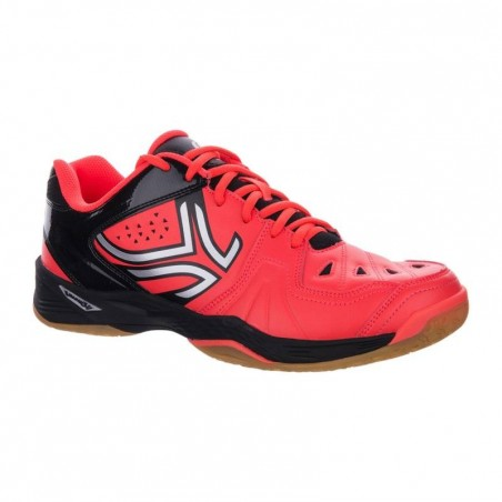 CHAUSSURES DE BADMINTON ARTENGO BS800 NOIR ORANGE