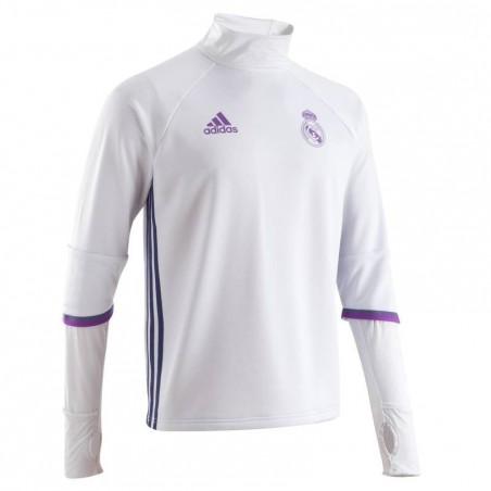 Training Top football adulte real Madrid blanc