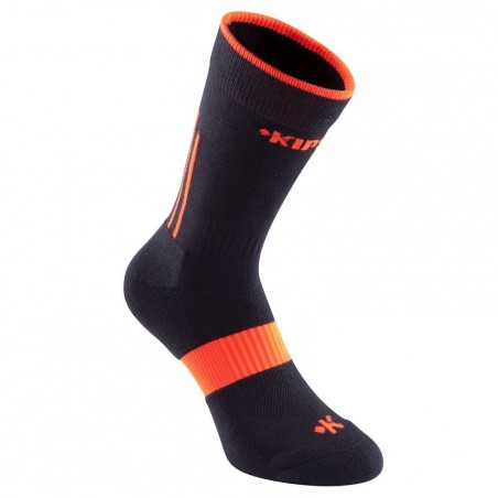 Chaussettes sports collectifs adulte Mid 500 noir orange