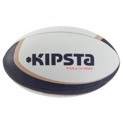 Ballon rugby Full H 300 taille 4 blanc marron