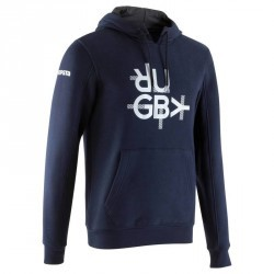 SWEAT MOLLETON CAPUCHE BLEU T500 ADULTE