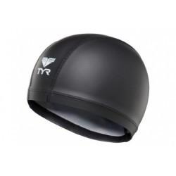 Bonnet de bain TYR Warmwear Silicone Noir