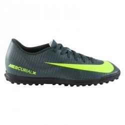 Chaussure football enfant Mercurial CR7 Vortex TF noir