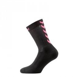 Chaussettes de handball enfant et adulte noir et rose