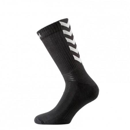 Chaussettes de handball enfant et adulte noir et gris
