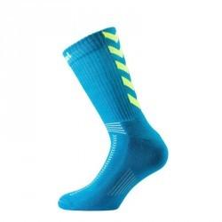 Chaussettes de handball enfant et adulte bleu et jaune