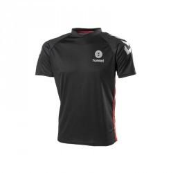 Maillot de handball adulte noir rouge gris