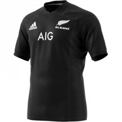 Maillot rugby adulte réplique All Black noir