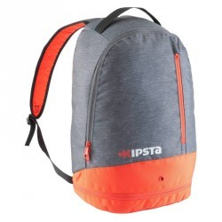 Sac à dos de sports collectifs Intensif  20 litres gris chiné rouge