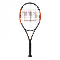 RAQUETTE DE TENNIS ADULTE BURN TEAM 100 NOIR ORANGE