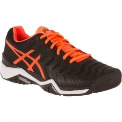 CHAUSSURES DE TENNIS HOMME GEL RESOLUTION 7 NOIR ORANGE