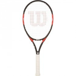 RAQUETTE DE TENNIS ADULTE FEDERER TEAM 105 NOIR ROUGE