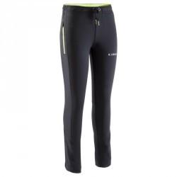 Pantalon d'entraînement de football enfant TP500 noir vert