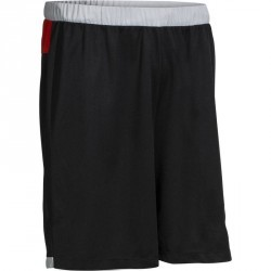 Short basketball enfant B500 rouge noir gris