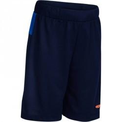 Short basketball enfant B500 bleu navy orange