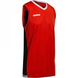 Maillot basketball enfant B500 rouge noir gris