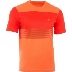 T SHIRT HOMME SOFT ORANGE 500 TENNIS BADMINTON TENNIS DE TABLE PADEL SQUASH
