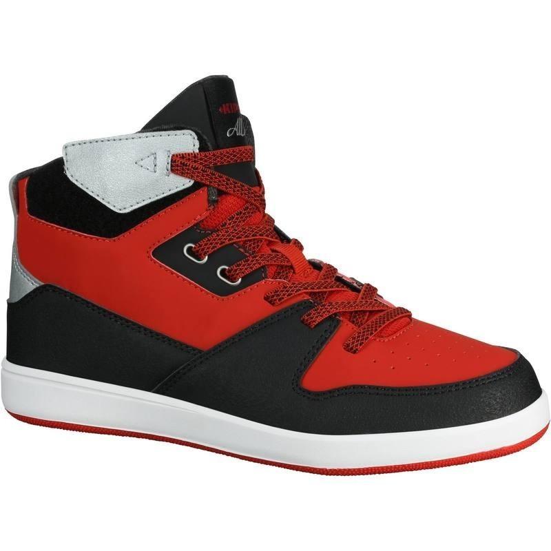 57eed14ceadba Avis   test - Chaussures de Basketball enfant BBAll 500 rouge noir ...