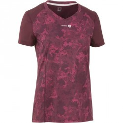 T SHIRT FEMME SOFT BORDEAUX 500 TENNIS BADMINTON TENNIS DE TABLE PADEL