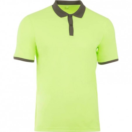 POLO HOMME SOFT JAUNE 500 TENNIS BADMINTON TENNIS DE TABLE PADEL SQUASH ARTENGO