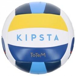 Ballon de beach-volley extérieur  Rio Totem Savanna blanc jaune bleu