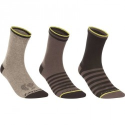 CHAUSSETTES DE SPORTS ADULTE ARTENGO RS 160 HAUTES DARK MIX LOT DE 3